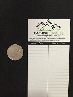 Waterproof, Double Sided Logs for Geocaching 5 Pack (1.9cm, 3cm or 6cm)