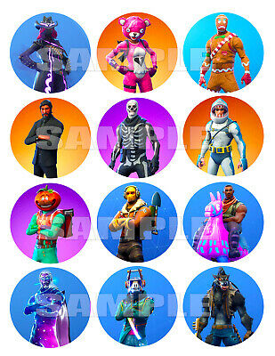 FORTNITE 12 X 2.5in CUPCAKE or COOKIE TOPPERS PREMIUM QUALITY Icing Image