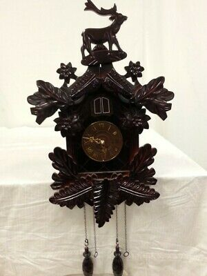 Vintage Black Forest Germany Reindeer Cuckoo Clock Germany Rare Piece