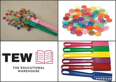 Magnetic Wands Set of 2 Plus 200 Chips -  Science Teacher Resource Kids Learning