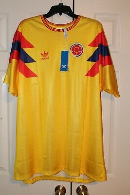 e58bad5878f NWT Adidas 1990 Colombia Home Jersey #10 Valderrama World Cup Soccer Size  2XL