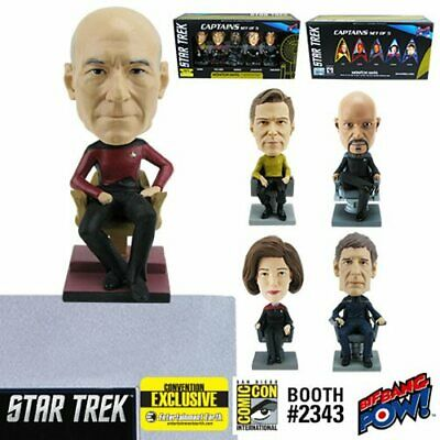 Star Trek Captains Monitor Mate Toy Bobble Head Set of 5 Con Exclusive Limited