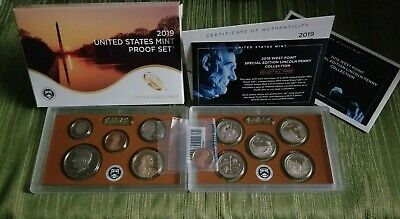 2019 S US Mint 11 Coin Proof Set with Westpoint Penny Original Box + COA