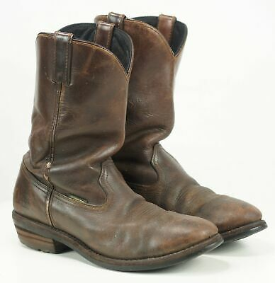 4dfddcdb4e9 DAN POST ALBUQUERQUE Men's Waterproof Distressed Leather Western Work Boots  12 D