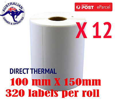 13x Direct Thermal Labels 100x150mm Fastway, Austpost Eparcel Shipping
