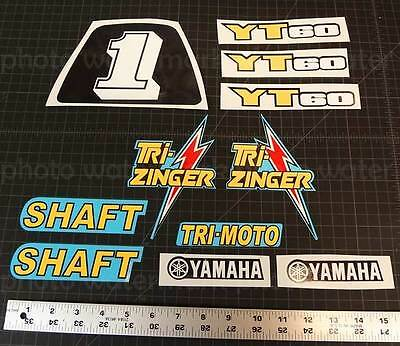 1984 -1985 yamaha TRI-ZINGER 11pc YT60 Blue Model Trike Graphic Decal Stickers