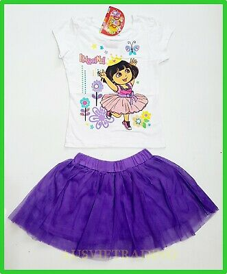 BNWT Dora top t-shirt tshirt ruffle skirt 2pc girls oufit set New party beach