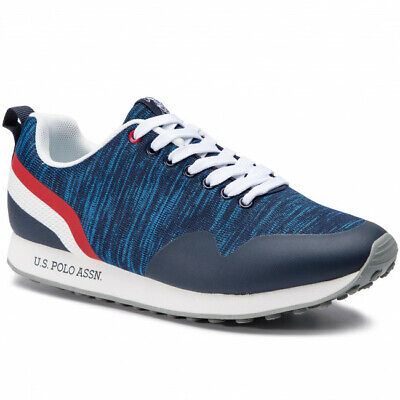low priced 929ad a05de US POLO ASSN Flash4089S9/T1 Luis Knitted Sneakers Scarpe Sportive Uomo  Lacci Blu