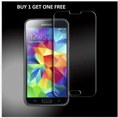 100% Real Samsung Galaxy S5 Genuine Gorilla Tempered Glass Film Screen Protector