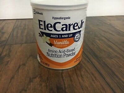 elecare jr vanilla powder. Hypoallergenic Ages 1 And Up. Box Is Sealed.