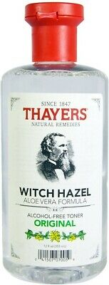 Original Witch Hazel with Aloe Vera Alcohol-Free Toner, Thayers, 12 oz