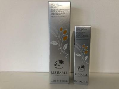 LIZ EARLE SUPERSKIN CONCENTRATE FOR NIGHT 1 x 28ml and I x 10ml ROLLER BALL.