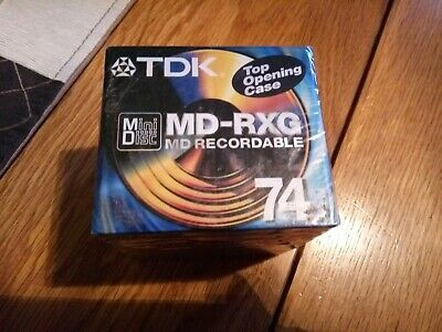 TDK MD-RXG 74 Mini Disc 10 Pack New and Sealed
