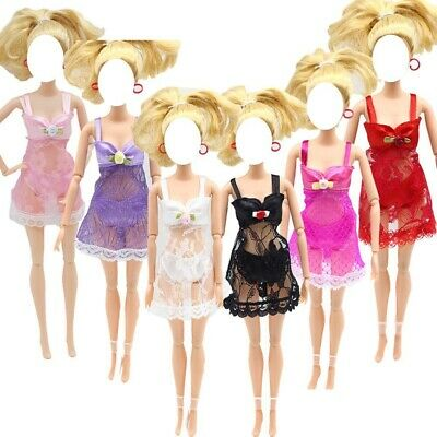 3 sets fashion Lace pyjamas clothes outfits for Barbie doll for kids gift -