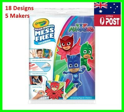 Crayola Colour Wonder Mess Free PJ Masks Colouring Pages Markers