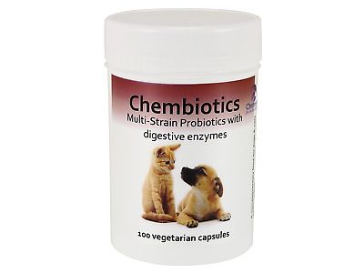 Chemeyes MultiStrain Probiotics with digestive enzymes, 100 chicken flavour caps
