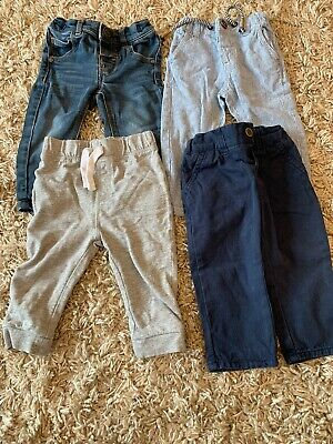 Baby Boy Next, Mothercare And TU 6-9 Months Jeans, Chino And Jogger Bundle