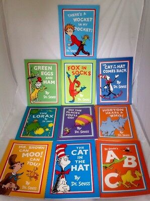 Dr Seuss Books X 10 Excellent Condition Fox In Socks, The Cat In The Hat Etc