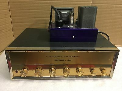 beautiful Pilot SP-210 tube preamp w/ horizontal face - regulated power supply