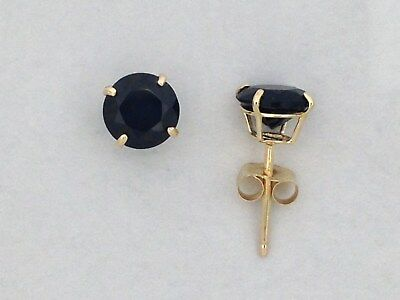 c1be74869 NATURAL BLACK ONYX Stud Earrings Solid 10kt Yellow Gold - $34.99 ...