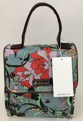 8d5afc029 NWT Sakroots Artist Circle Flap Lunch Box Sky Blue Flower Power 106641