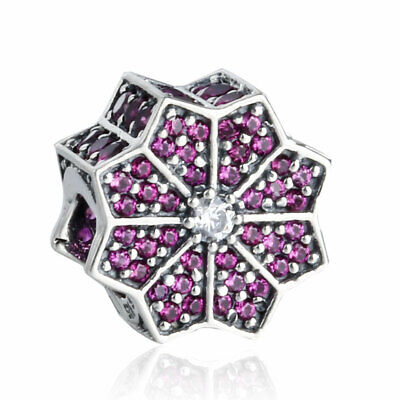 Authentic Sterling-Silver Limited Edition Poinsettia Black Friday Bead USB796800