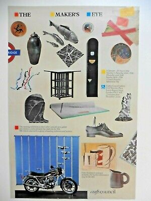 """Original Poster """"The Makers Eye"""" Crafts Council 1982"""
