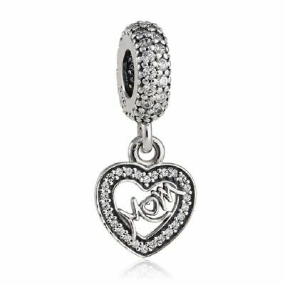 c15f7791b6a Charm Center of My Heart Mom Charm, Mother Sterling-Silver dangle 791521CZ
