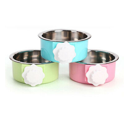 Food Water With Suspension Fixation Type Stainless Steel Heat Pet Bowl T
