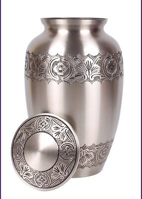 Adult Urn For Ashes Cremation Funeral Memorial Large Urn Grey Pewter Ashes Urn