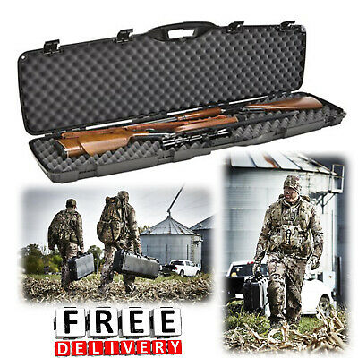 RIFLE STORAGE DOUBLE Shotgun Hard Case Gun hunting Safety