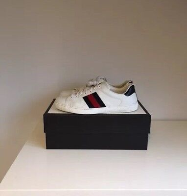 3dc83196a5c MENS GUCCI ACE Trainers Sneakers Shoes Side Stripe Uk 10 - £199.99 ...