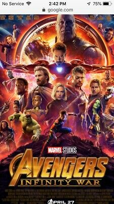 marvel avengers infinity war 4K Blu-ray Digital *see Description