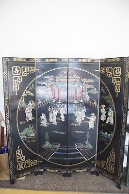 Chinese Laquer room divider with mother of pearl