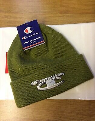 fbafbc2757668 SUPREME CHAMPION BEANIE 3D Metallic Olive Green DS FW18 - £55.00 ...