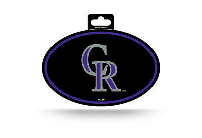 Colorado Rockies Oval Decal Sticker Full Color 3x5 inch