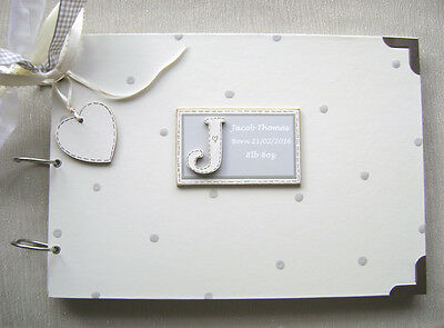 Personalised. New Baby Gift.girl/Boy. A4 Size.photo Album/Scrapbook/Memory Book.