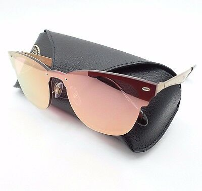 0a18182b7ee62 Ray Ban 3576 N 043 E4 47 Brushed Gold Pink Mirror Sunglasses Authentic r