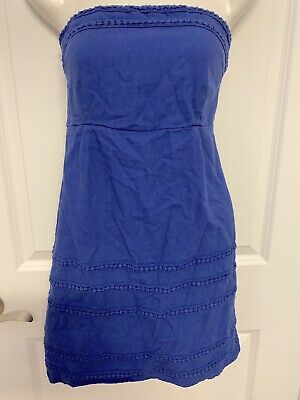 c788fcb9e0ca Womens Old Navy Strapless Size 6 Petite Royal Blue Romper Shorts Jumper