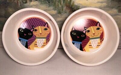 Gibson Cat Food Water Dish Bowls Set Of 2 Jessica Flick