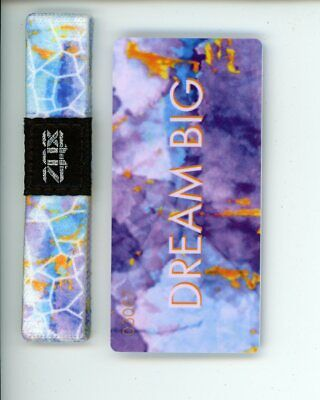 Small ZOX Silver Singles Strap DREAM BIG Wristband with Card Reversible