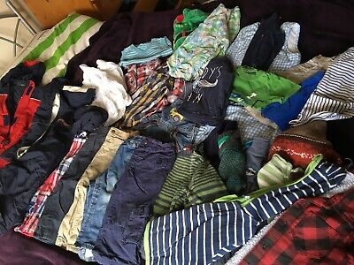 Big job lot bundle baby boys jeans jumpers tops clothes items 12-18 Months