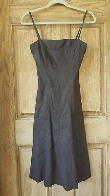 a4d6a33141e Theory adjustable Spaghetti Strap Linen Dress w pockets in dark brown size 0