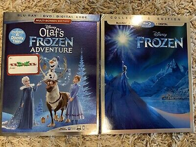 Disney Frozen + Olaf's Adventure Blu-Ray + Dvd 2-Movie 4-Disc ✔No Digital