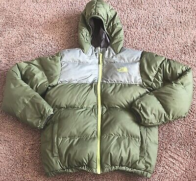 98e7d83f5 THE NORTH FACE Boys 550 Hooded Reversible Down Puffer Jacket Size Large  (14/16)