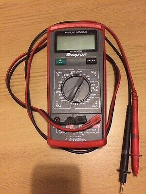 Snap On Advanced Manual Ranging Multimeter EEDM503D