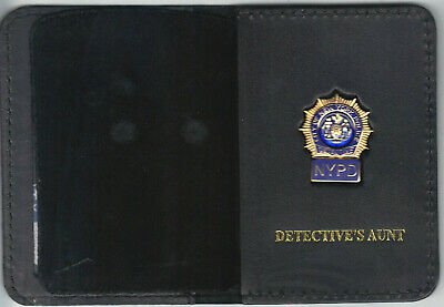 Detective/'s Family Member Credit Card Wallet with 1-Inch Blue Panel Mini