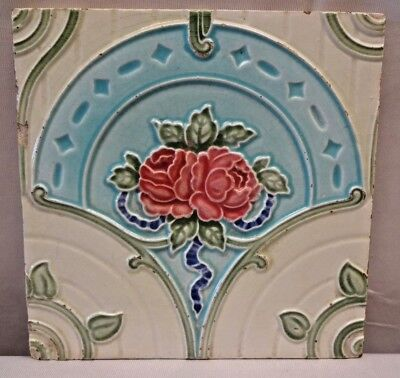 Tile Vintage Majolica Porcelain Art Nouveau England Architecture Collectibles#68