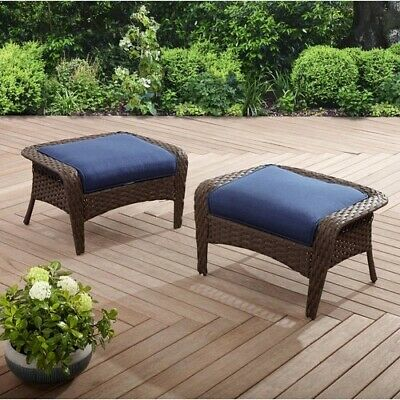 5bcf44b0f825 BETTER HOMES AND Gardens Colebrook 2pk Ottomans- Blue - $206.09 ...