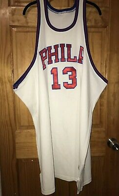 a238c0edf66 Mitchell And Ness Men s Wilt Chamberlain 76ers 1966-67 Jersey Size 60 Stains